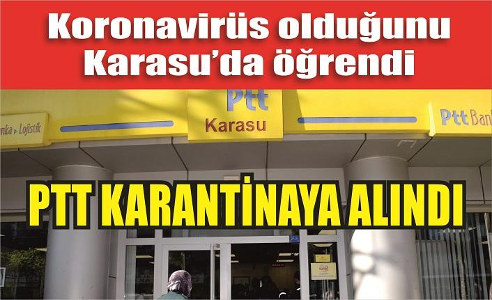 PTT KARANTİNADA