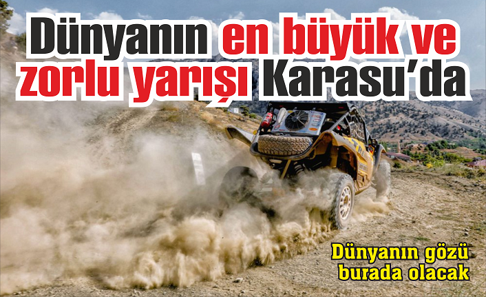 Dünyanın en büyük ve zorlu yarışı Karasu'da…