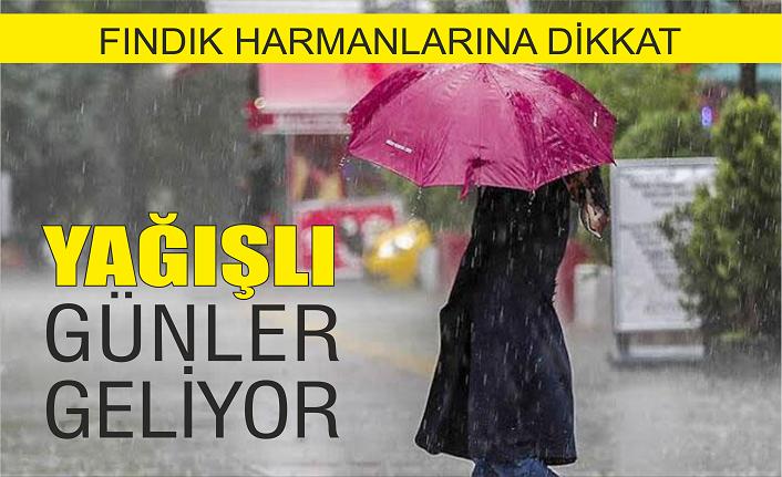 Yağışlı günler geliyor