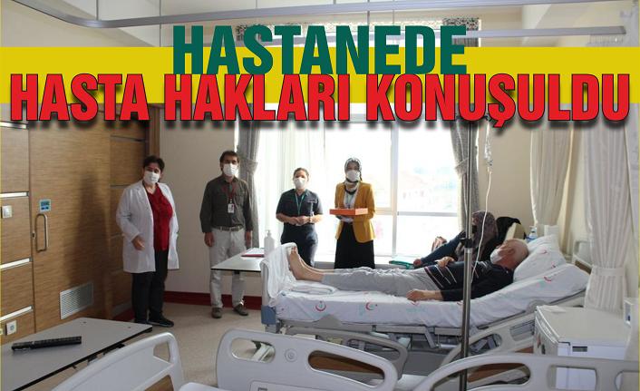 Hastanede hasta hakları konuşuldu