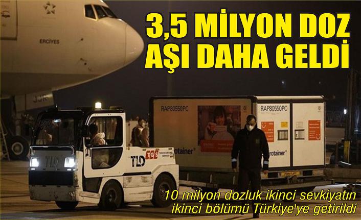 3.5 milyon doz aşı daha Türkiye'de