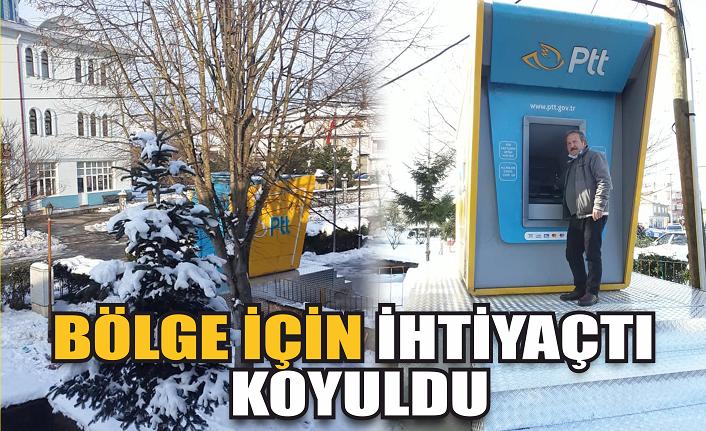 Bölge için ihtiyaçtı: PTT ATM'si koyuldu