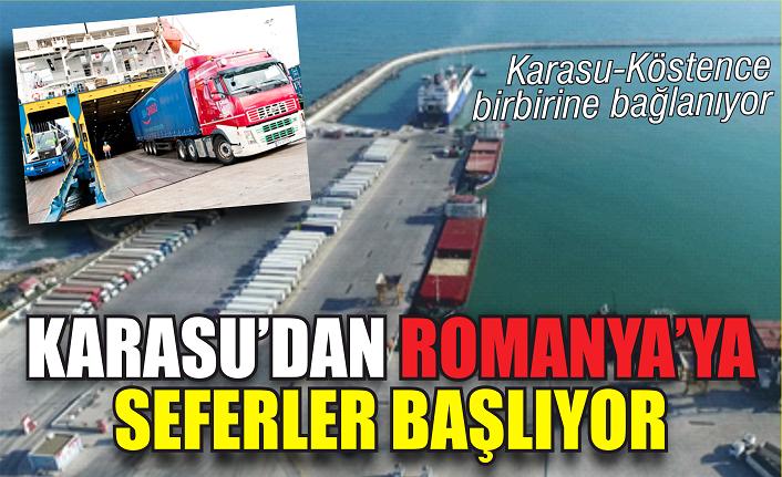 Karasu Limanı'ndan Romanya'ya seferler başlıyor