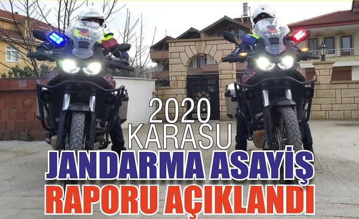Karasu'nun 2020 Jandarma raporu: Yüzde 32 artış