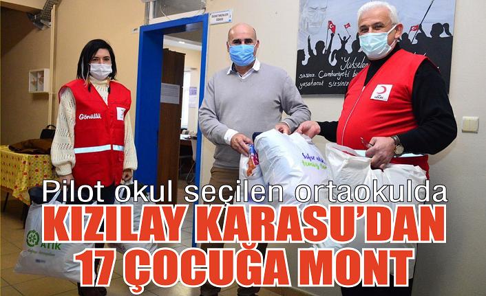 Kızılay Karasu'dan 17 öğrenciye mont