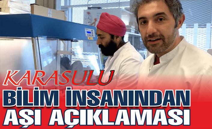 Karasulu bilim insanı Ertürk'ten aşı açıklaması!