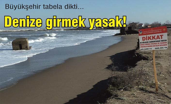 İhsaniye'de denize girmek yasak!