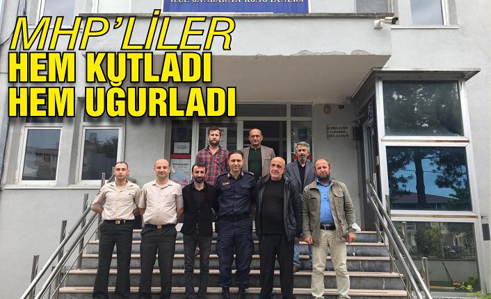 MHP'liler hem kutladı hem uğurladı