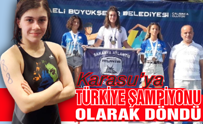 Aydan Demiröz Türkiye şampiyonu olarak Karasu'ya döndü