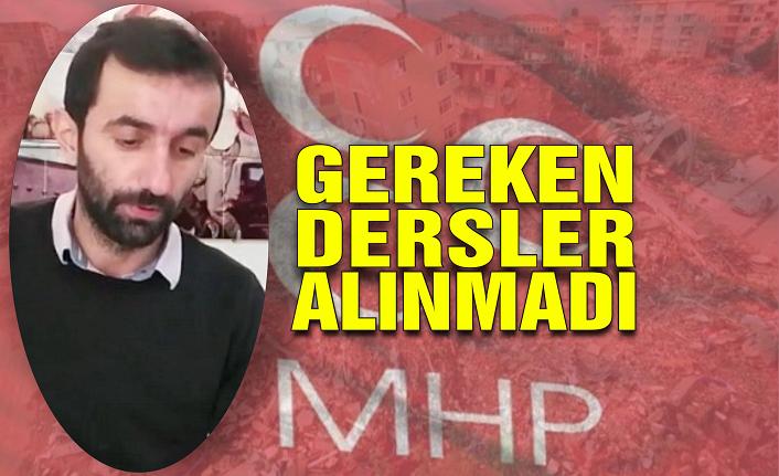MHP Karasu Başkanı Kara: Gereken dersler alınmadı!