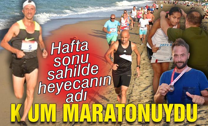 Sahilde heyecanın adı kum maratonuydu