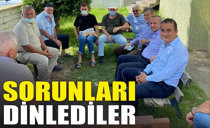 AK Partililer sorunları dinledi