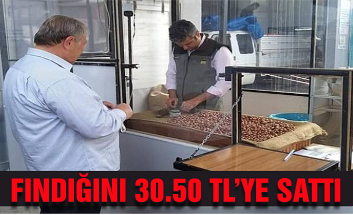 Arif Gündüz fındığını 30.50 TL'ye sattı
