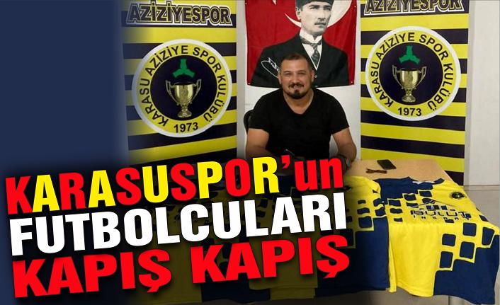 Karasuspor'un futbolcuları kapış kapış