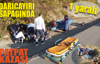 Patpat kazası: 1 yaralı!