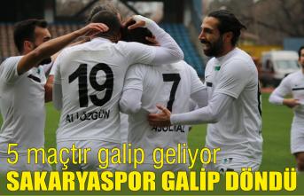 Sakaryaspor 5'inci maçında da galip
