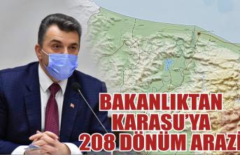 Başkan Sarı duyurdu: Bakanlıktan Karasu'ya 208 dönümlük arazi