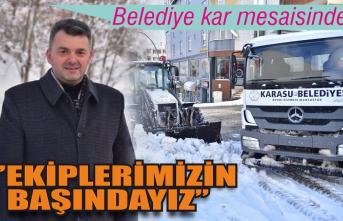 Karasu Belediyesi kar mesaisinde