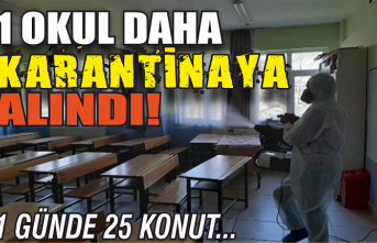 Bir okul daha karantinaya alındı!