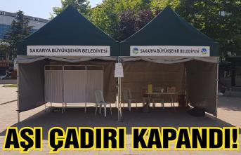 Karasu'daki aşı çadırı kapandı!
