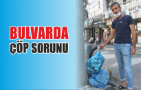 Bulvarda çöp sorunu