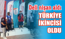 Karasulu sporcu Türkiye ikincisi...