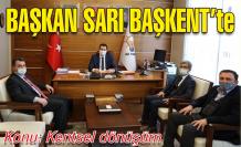 Başkan Sarı Ankara'da