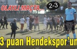 Olaylı maçta gülen taraf Hendekspor
