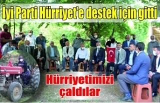 İYİ Parti'den Hürriyet Mahallesi'ne destek