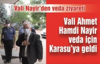 Vali Nayir'den veda ziyareti