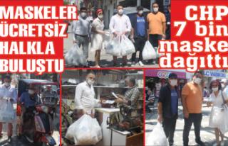 CHP 7 bin maske dağıttı