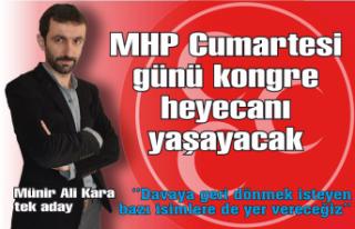 MHP cumartesi günü kongre heyecanı yaşayacak