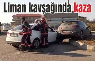 Liman kavşağında kaza: 1 yaralı