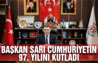 Başkan Sarı Cumhuriyet'in 97'inci yılını...