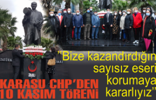 Karasu CHP'den tören