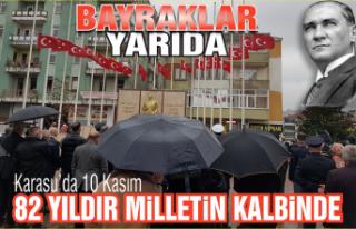 Karasu'da 10 Kasım: Büyük Önder Atatürk'ü...