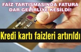 Kredi kartı faizleri artırıldı