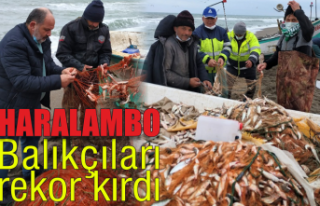 Haralambo Balıkçıları rekor kırdı