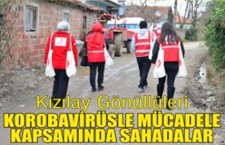 Kızılay 4 mahallede yardım dağıttı