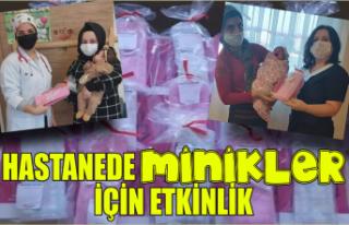 Hastanede anneler ve yenidoğanlar için etkinlik...