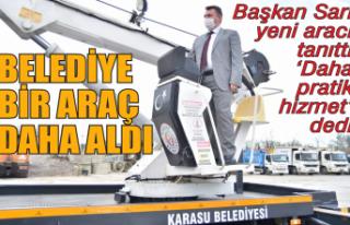 Karasu Belediyesi araç filosuna bir araç daha ekledi