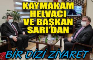Kaymakam Helvacı ve Başkan Sarı'dan bir dizi...