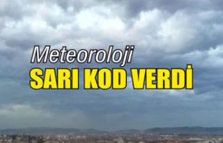 Meteoroloji'den sarı kod uyarısı