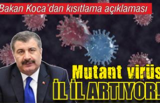 Sağlık Bakanı Koca'dan kısıtlama açıklaması