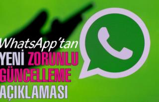 WhatsApp'ın 'zorunlu güncelleme'...
