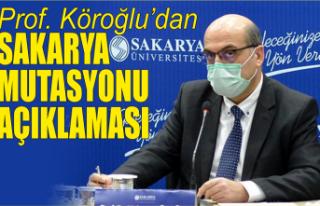SAÜ Tıp Fakültesi profesöründen Sakarya mutasyonu...