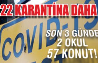 22 karantina daha: Son 3 günde 2 okul, 57 konut!