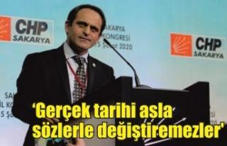 CHP İl Başkanı Keleş: 'Gerçek tarihi asla sözlerle...