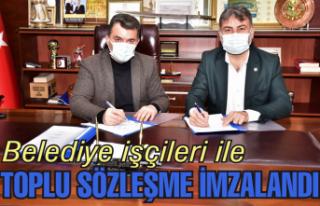 Karasu Belediyesi işçileri toplu sözleşme imzaladı