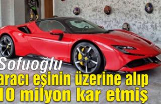 Sofuoğlu aracı eşinin üzerine alıp 10 milyon...